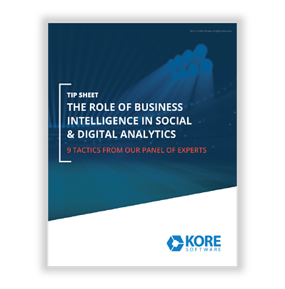 Tip Sheet- The Role of BI in Social & Digital Analytics RL